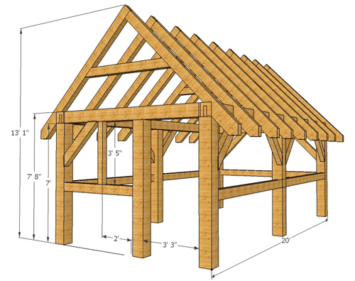 Timber Frame Wood Shed Plans