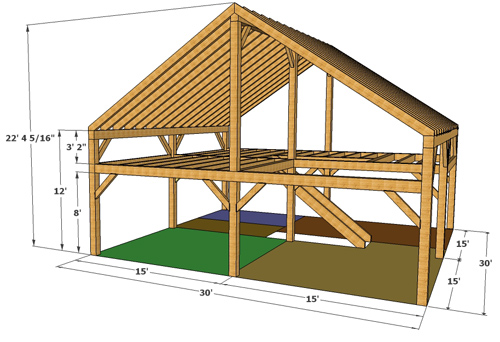 Timber packages frontier barn homes for Fenetre 30 x 30